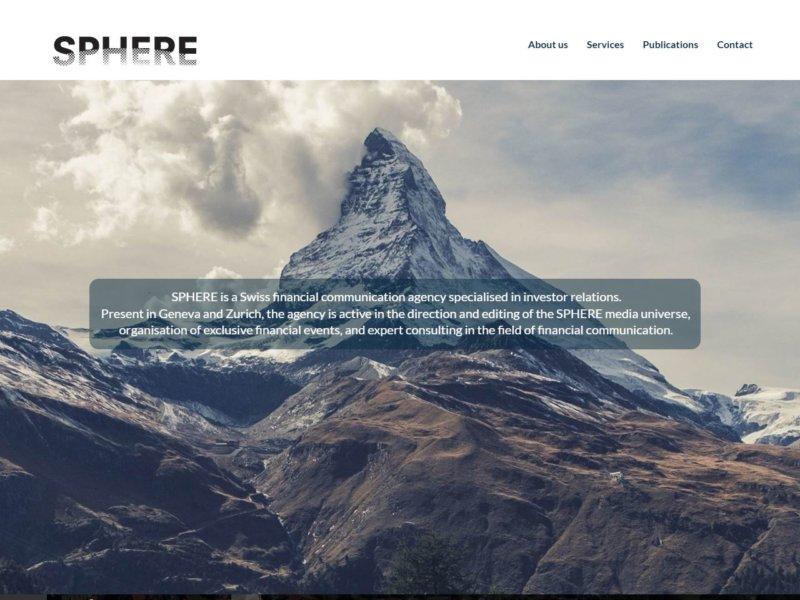 Page d'accueil de sphere-group.ch