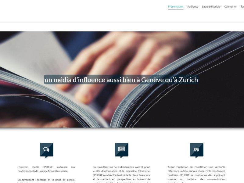Haut de la page d'accueil de sphere-mediakit.ch