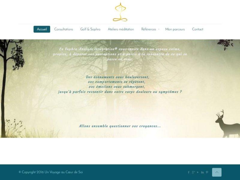 Page d'accueil de unvoyageaucoeurdesoi.com