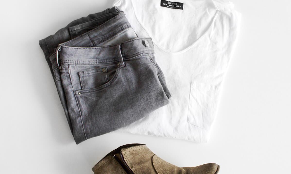 Jeans, Shirt & Shoes